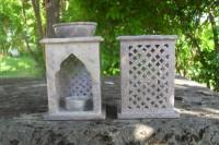 Speckstein Aromalampe, Orient, 2-tlg