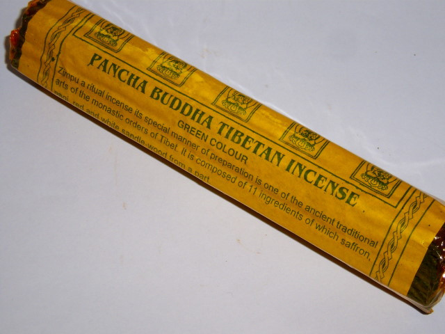 Pancha Buddha Green Incense-Tibet, 50g